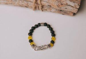 Bracelet jaune soleil